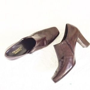 Franco Sarto Brown Square Toe Booties 8